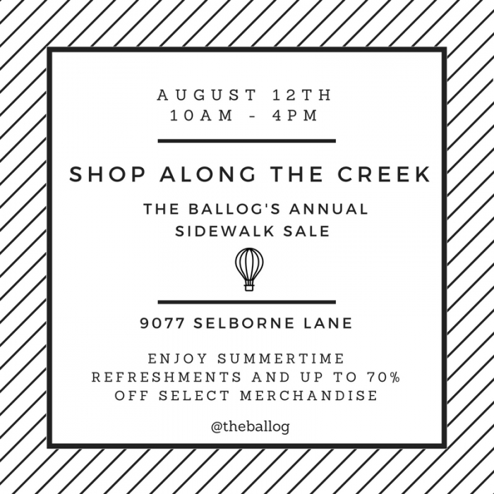 Shop Along The Creek: Annual Sidewalk Sale